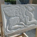Carol Griffin - relief carving of Griffin