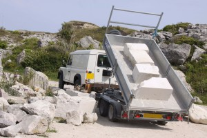Tout Quarry open air workshop - delivering stone